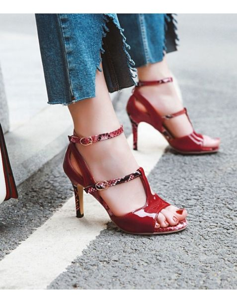 Cumming Ave - Fashion Ankle Strap High Heels Sandals