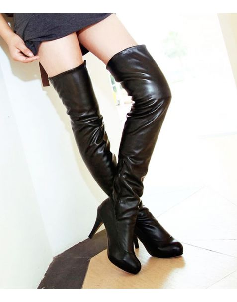 Avenue Of The Strongest - Fashion Sexy Knee High Boots