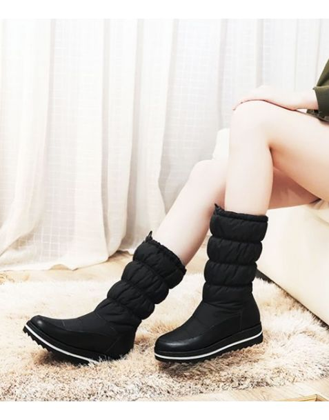 Avenue Of The Finest - Winter Fashion Women's Flat Boots