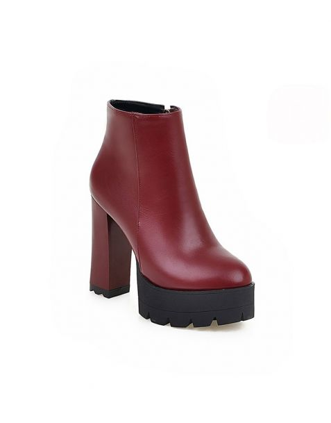 Pamplemousse 1 - Sexy Fashion Platform Women's Ankle Boots