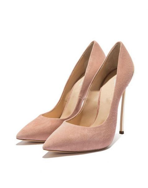 Hayward- Faux Suede Pink Fashion Stilettos High Heels Pumps