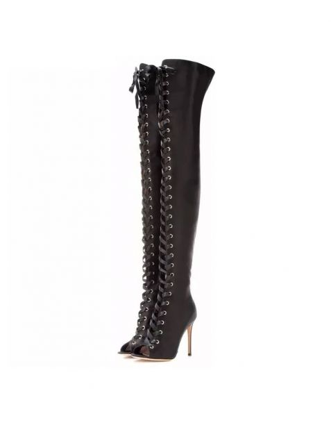 Le pia - Black Sexy Fashion Knee High Women's Boots