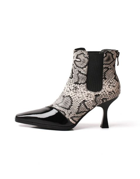 Gramercy Park Collection - Leather Sexy Fashion Women's Ankle Boots