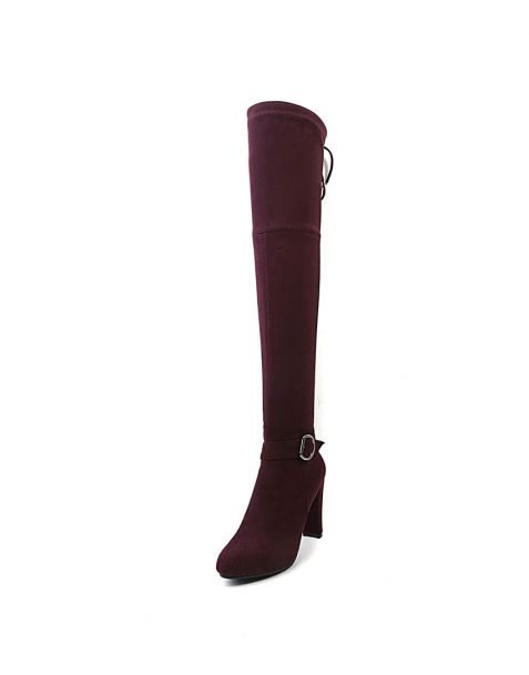 Front Boulevard -Faux Sexy Fashion Knee High Women's Boots