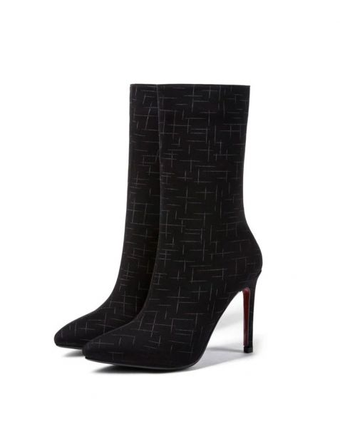 Ceraunophile - Black Stilettos Calf Length Boots