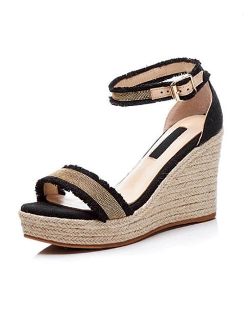 Pontiac - Platform Ankle Strap Wedge Heels Sandals