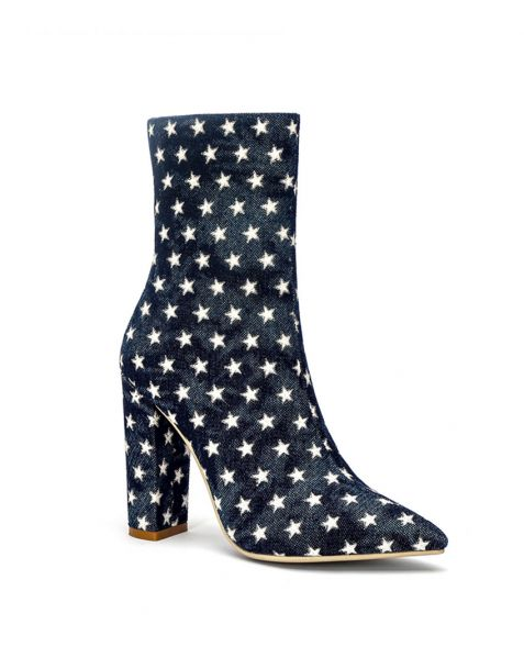 Halo1- Blue Sexy Fashion Women's Ankle Boots