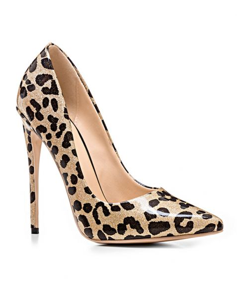 Birmingham Leopard Pumps Stilettos High Heels