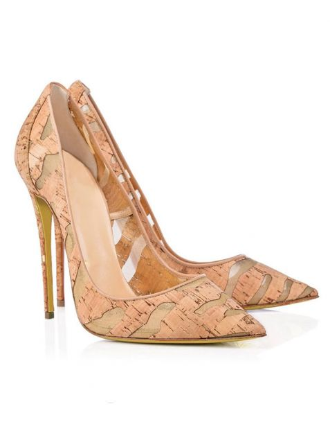Hollywood 1 - Apricot Stilettos Ankle Strap High Heels Pumps