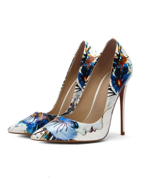 Fresno- Printed Fashion Stilettos High Heels Pumps