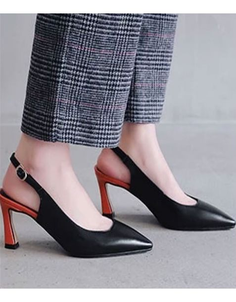 Berkeley Leather Pumps Slingback High Heels