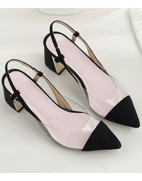 Francine 1 - Suede Pumps Slingback High Heels Pumps