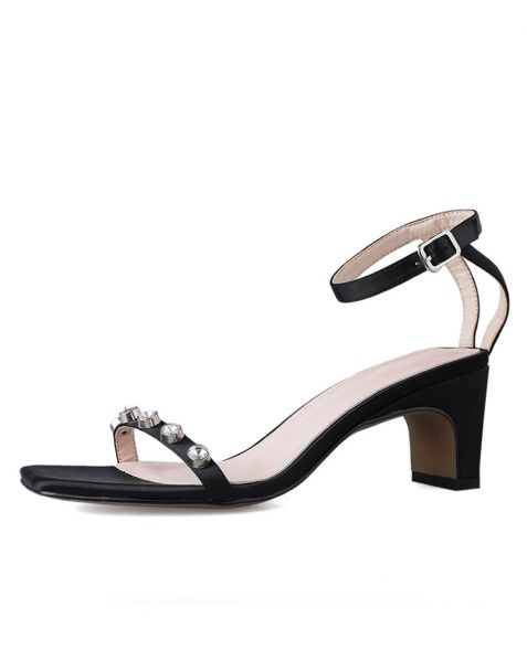 Jemmima - Ankle Strap Low Heels Sandals