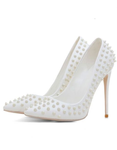Approcher White Pumps Stilettos High Heels Sandals