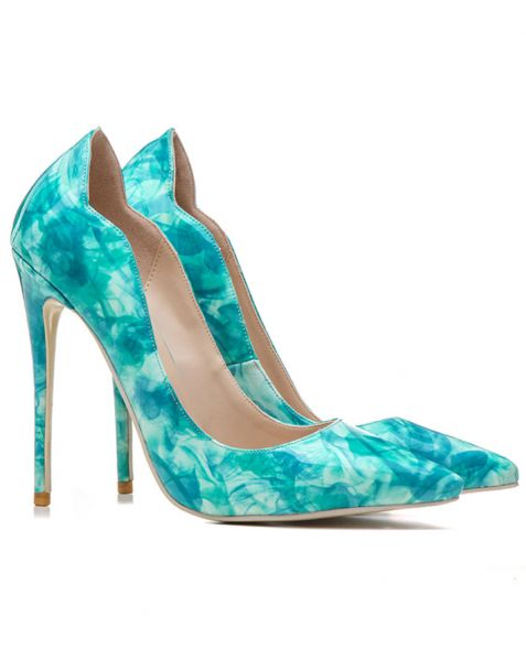 Assurer Blue Pumps Stilettos High Heels