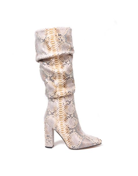 Council - Snakeskin Fashion Knee High Boots