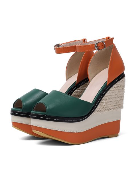 Tiffany - Fashion Espadrilles Ankle Strap Wedge