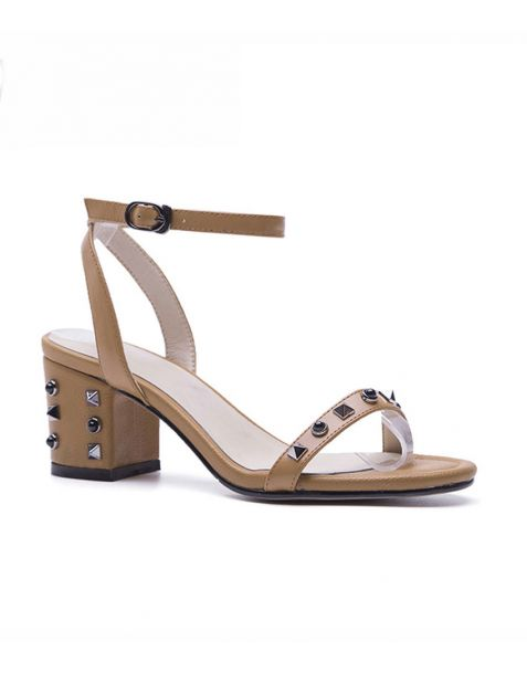 Foxglove - Leather Ankle Strap Low Heels Sandals