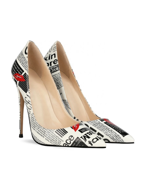 Camilla - White Fashion Stilettos High Heels Pumps