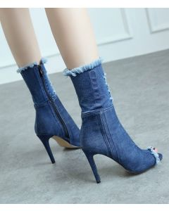 Coenties Slip - Blue Sexy Fashion Knee High Women's Boots