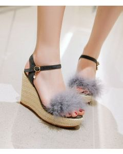 Amara - Platform Ankle Strap Wedge Heels Sandals
