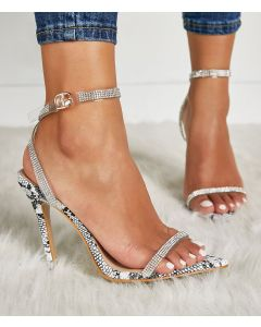 Becki Stilettos Ankle Strap High Heels Sandals