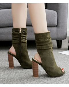 Chalon Suede Ankle Boots High Heels Sandals