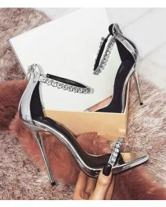 Channel - Ankle Strap Stilettos High Heels Sandals