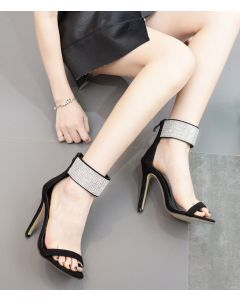 Daphne Lay - Fashion Stilettos Ankle Strap High Heels Sandals