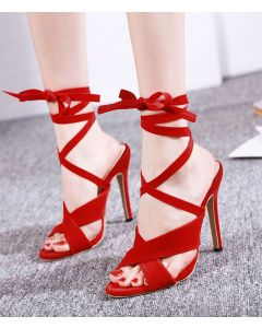 Chalet - Gladiator Cross Strap High Heels Sandals