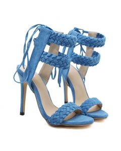 Indianapolis - Suede Stilettos Ankle Strap High Heels Sandals