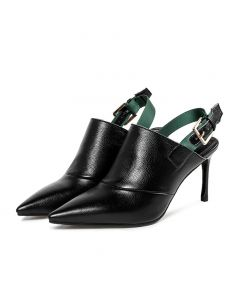 Fairfield Day - Leather Slingback Low Heels Sandals