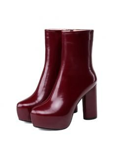 Caline - Leather Platform Ankle Boots