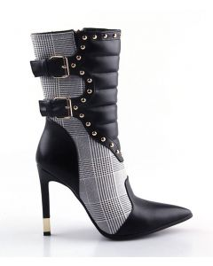 Fred Douglas Collection - Black Sexy Fashion Stilettos Calf Length Boots