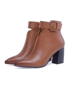 Fort Washington Collection - Leather Sexy Fashion Women's Ankle Boots