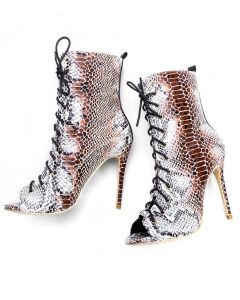 Vincennes - Snakeskin Gladiator Stilettos High Heels Sandals