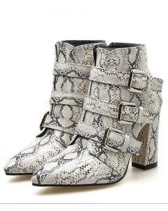 Dutch Collection 1 - Snake Buckle Strap Women's Ankle Boots
