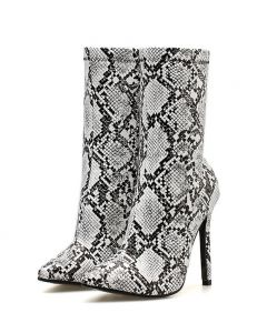 Duke Ellington Avenue - Snakeskin Sexy Fashion Calf Length Boots
