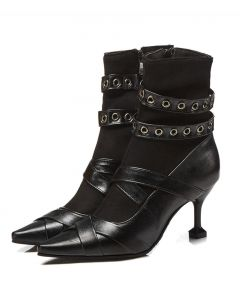 Claudine - Black Sexy Fashion Women's Ankle Boots