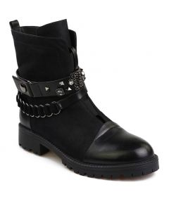 Cicely - Black Fashion Women's Ankle Boots