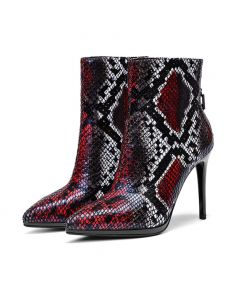 Gauche et doite - Leather Winter Fashion Women's Ankle Boots