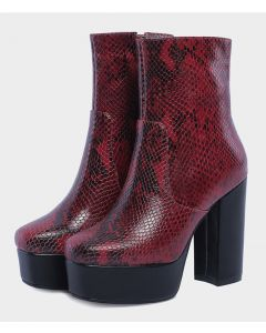 1ère dame Leather Winter Platform Ankle Boots