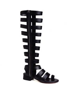 Fort Pierce - Fashion Leather Gladiator Heels