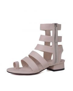 Fort Pierce 1- Fashion Leather Gladiator Heels