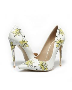 Nous avons chaud - White Fashion Stilettos High Heels Pumps