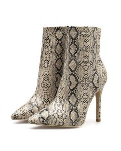 Troyon - Snakeskin Sexy Fashion Women's Ankle Boots
