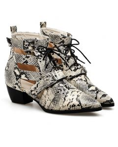 Charie - Snakeskin Sexy Fashion Women's Ankle Boots