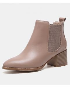 Colleene - Leather Winter Fashion Women's Ankle Boots