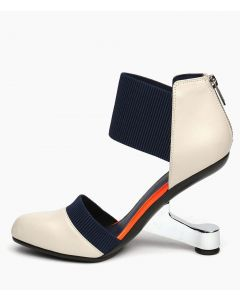 Kaskaskia - Leather Ankle Strap High Heels Sandals