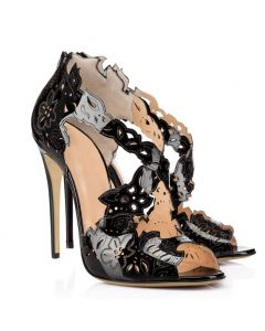 Lisle - Black Stilettos Ankle Strap High Heels Sandals